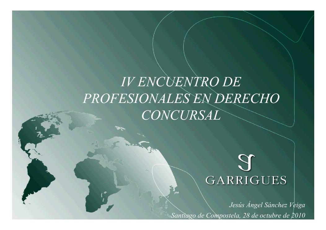 Presentación Jesús Angel Sánchez Veiga. Abogado Socio de Garriguez. Mebro da Xunta de Goberno do Colexio de Abogados de A Coruña